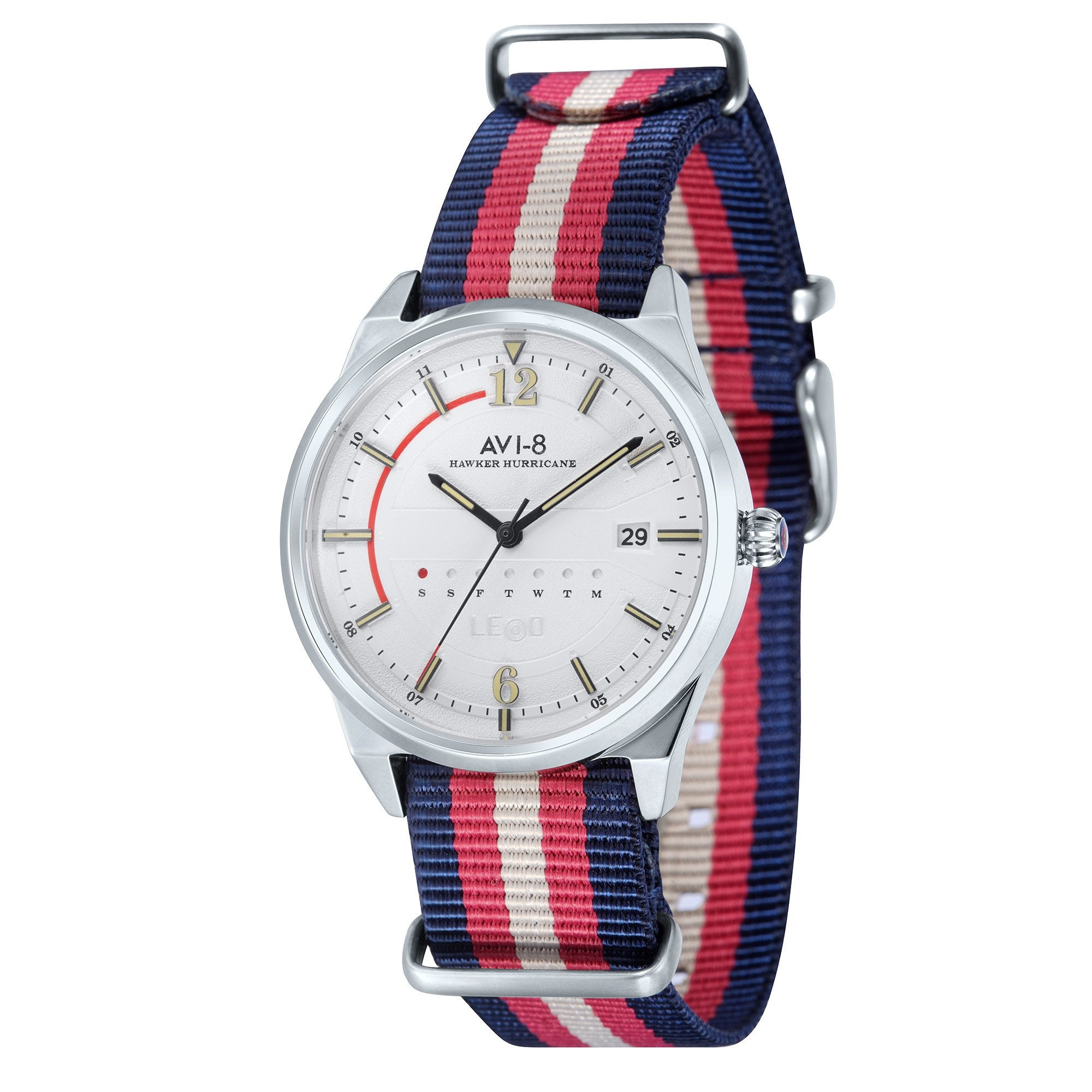 AVI-8 AVI-8 Hawker Hurricane Men's Quartz Watch with Multi Colour Nylon Nato Strap AV-4044-01