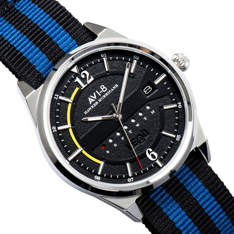 AVI-8 Men's AV-4044-02 Hawker Hurricane Stainless Steel Quartz Watch with Nylon NATO Strap