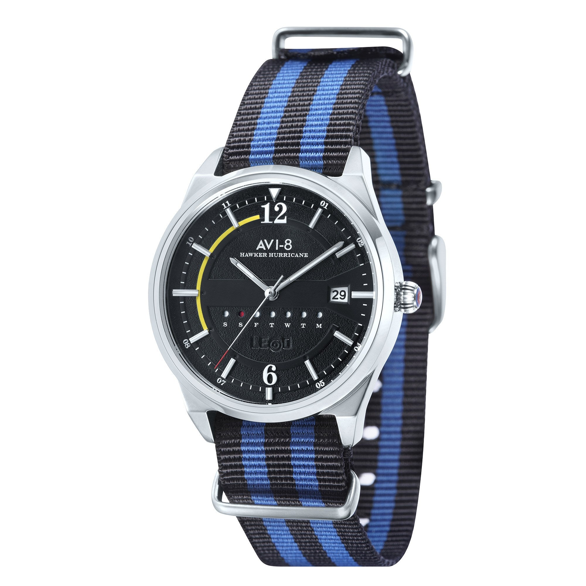 AVI-8 AVI-8 Hawker Hurricane Men's Quartz Watch with Multi Colour Nylon Nato Strap AV-4044-02