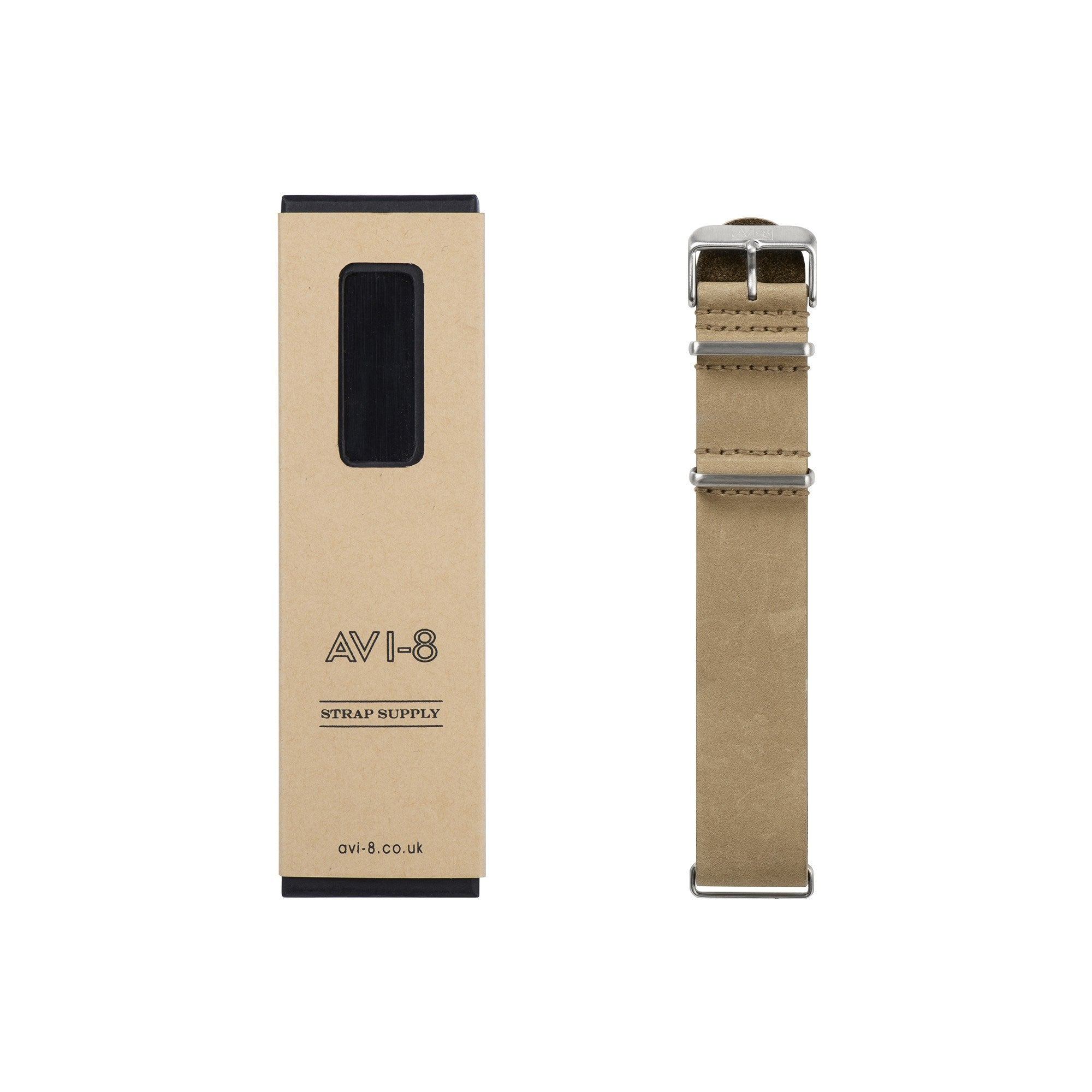 AVI-8 AVI-8 Beige Leather NATO Watch Strap AV-NATO20-L02