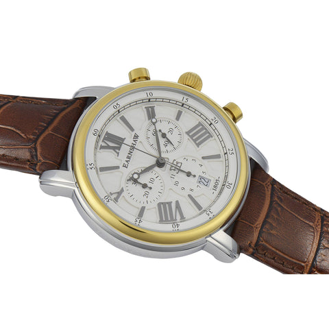 Thomas Earnshaw THOMAS EARNSHAW SWISS MADE Longcase 43 Quartz Chronograph Watch With Brown Genuine Leather Strap ES-0016-05