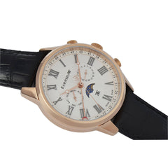 Thomas Earnshaw THOMAS EARNSHAW SWISS MADE Officer Quartz Watch With Black Genuine Leather Strap ES-0017-08