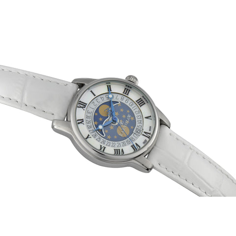 Thomas Earnshaw THOMAS EARNSHAW SWISS MADE Longitude Quartz With White Genuine Leather Strap ES-0021-01