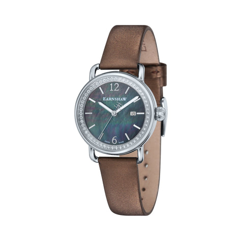 Thomas Earnshaw THOMAS EARNSHAW SWISS MADE Investigator Quartz Watch With Brown Satin Strap ES-0022-03