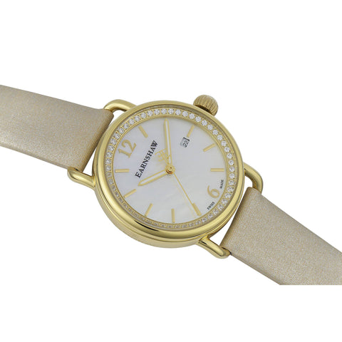 Thomas Earnshaw THOMAS EARNSHAW SWISS MADE Investigator Quartz Watch With Cream Satin Strap ES-0022-06
