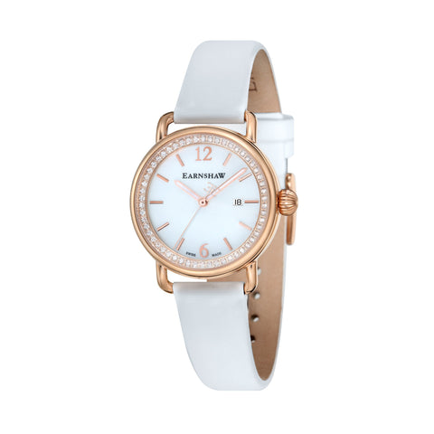 Thomas Earnshaw THOMAS EARNSHAW SWISS MADE Investigator Quartz Watch With White Satin Strap ES-0022-08