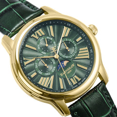 Thomas Earnshaw THOMAS EARNSHAW SWISS MADE Longitude Quartz Multifunction Watch With Green Genuine Leather Strap ES-0025-05