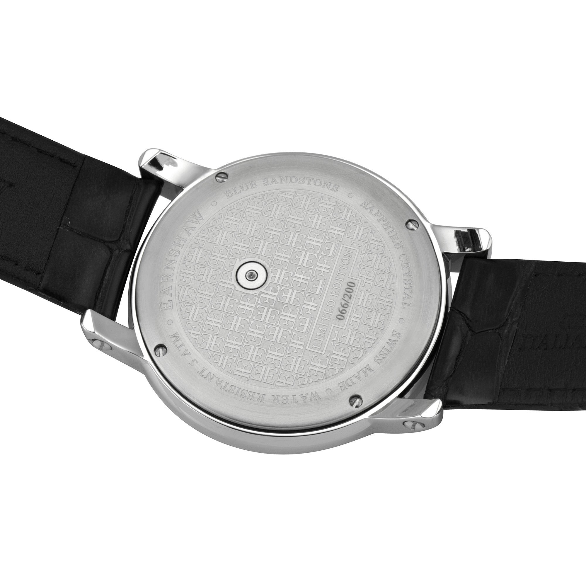 Thomas Earnshaw THOMAS EARNSHAW SWISS MADE Lapidary Quartz Watch With Black Genuine Leather Strap ES-0027-01