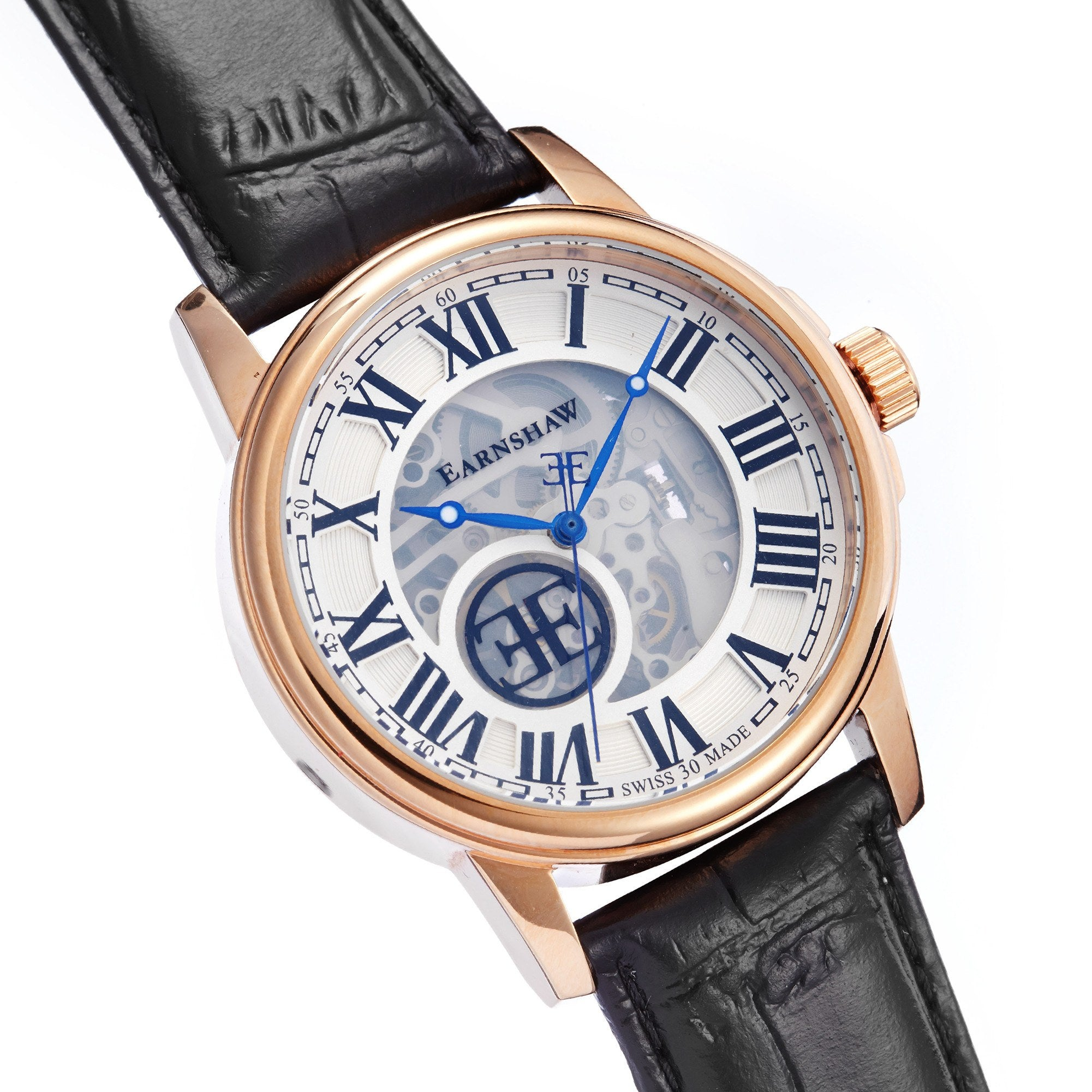 Thomas Earnshaw THOMAS EARNSHAW SWISS MADE Beagle Automatic Skeleton With Black Genuine Leather Strap ES-0028-02