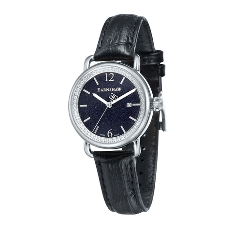 Thomas Earnshaw THOMAS EARNSHAW SWISS MADE Investigator Quartz Watch With Black Genuine Leather Strap ES-0030-01