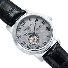Thomas Earnshaw THOMAS EARNSHAW SWISS MADE Beagle Automatic Skeleton Watch With Black Genuine Leather Strap ES-0031-01