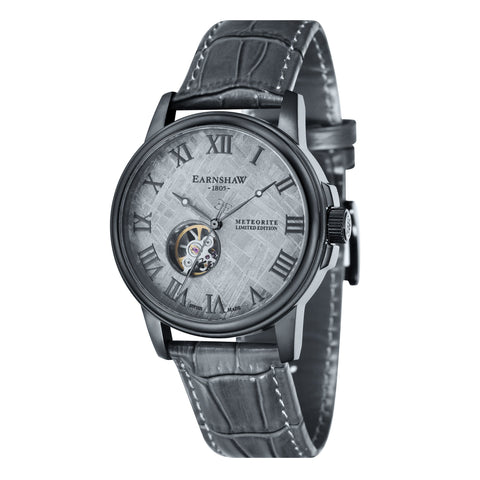 Thomas Earnshaw THOMAS EARNSHAW SWISS MADE Beagle Automatic Skeleton Watch With Black Genuine Leather Strap ES-0031-02