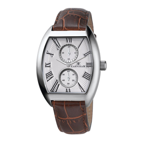 Thomas Earnshaw Men's ES-8004-02 Holborn Stainless Steel Watch with Brown Leather Strap