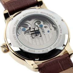 Thomas Earnshaw Men's ES-8006-06 Longitude Gold Watch with Brown Leather Strap