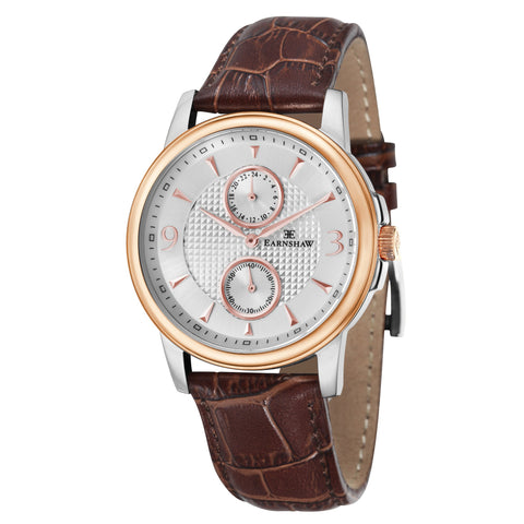 Thomas Earnshaw Men's ES-8026-04 Flinders Rose Gold Watch with Light Brown Leather Strap
