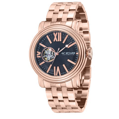 James Mccabe Men's JM-1018-55 Victory Rose Gold Automatic Watch with Solid Rose Gold Band