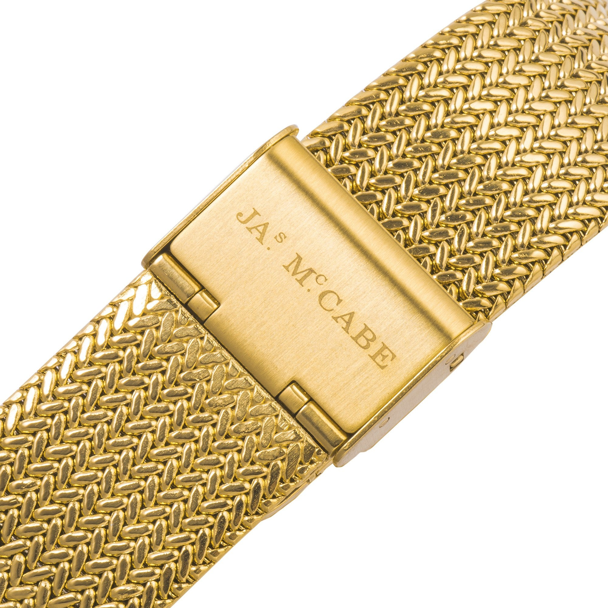 James McCabe Men's JM-1022-33 Heritage II Gold Automatic Watch with Gold Mesh Band