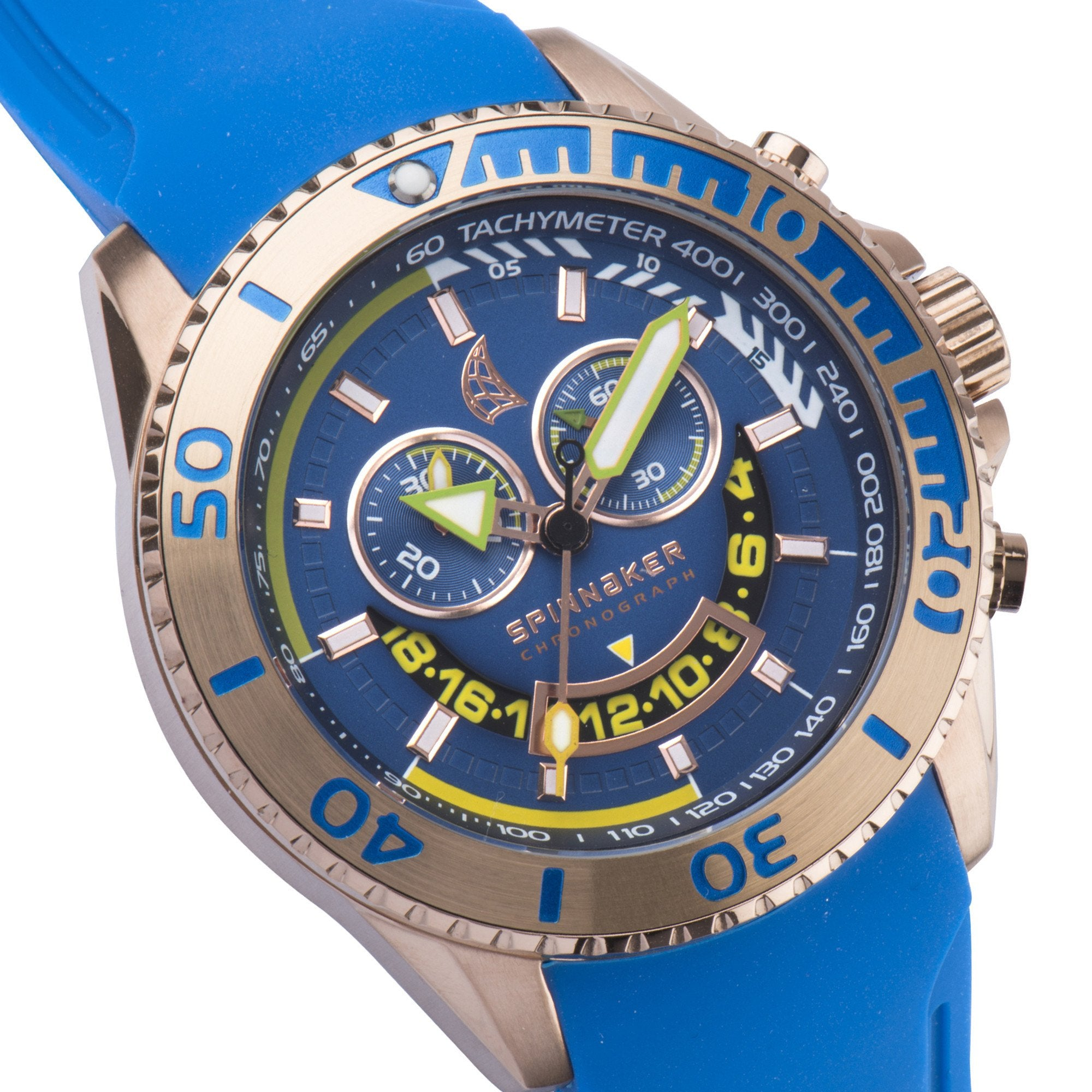 Spinnaker SPINNAKER Mens AMALFI Quartz Chronograph Big Date with Stainless Steel Bracelet SP-5021-03