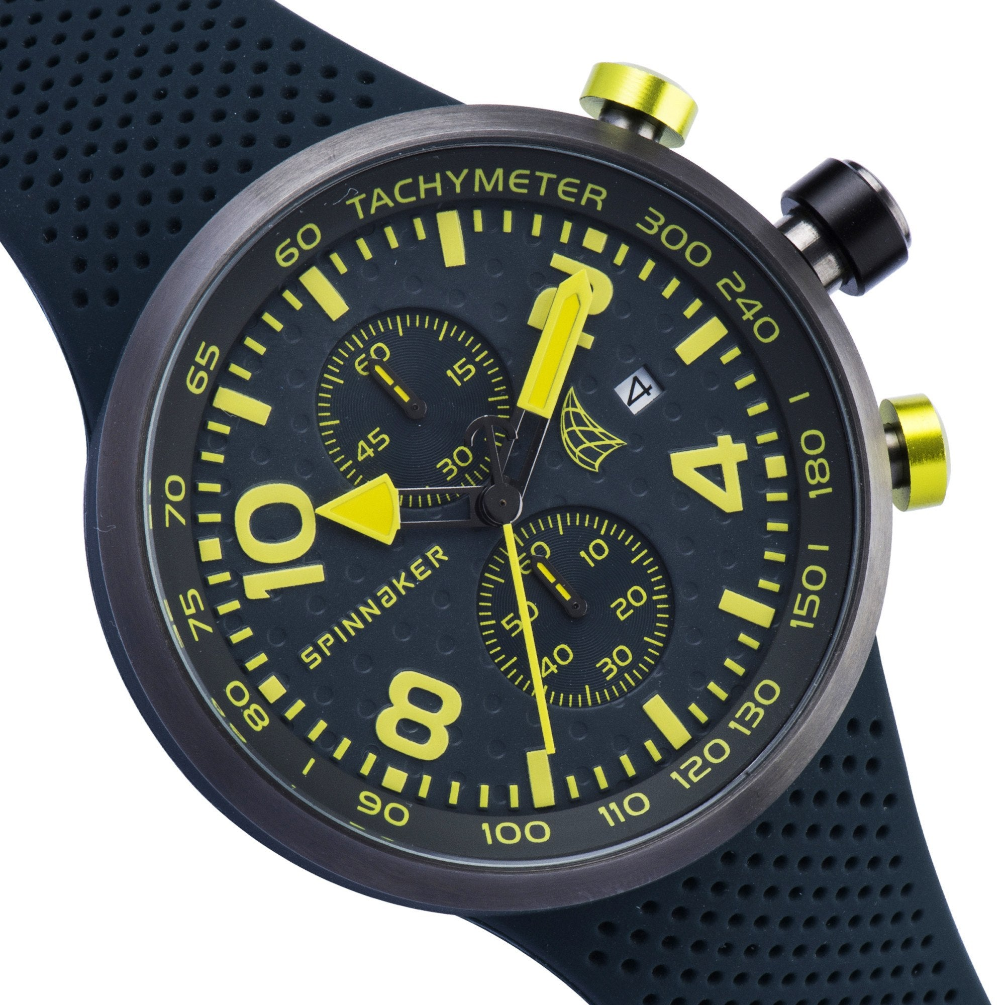 Spinnaker SPINNAKER Mens DYNAMIC Quartz Chronograph Watch with Integrated Silicon Strap SP-5029-05