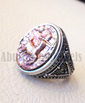 Sagittarius Horoscopes zodiac sign sterling silver 925 and antique bronze huge men ring all sizes men jewelry gift that bring luck fast shipping