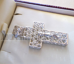 Cross pendant sterling silver 925 jewelry Christianity 3d design man women religious gift express shipping