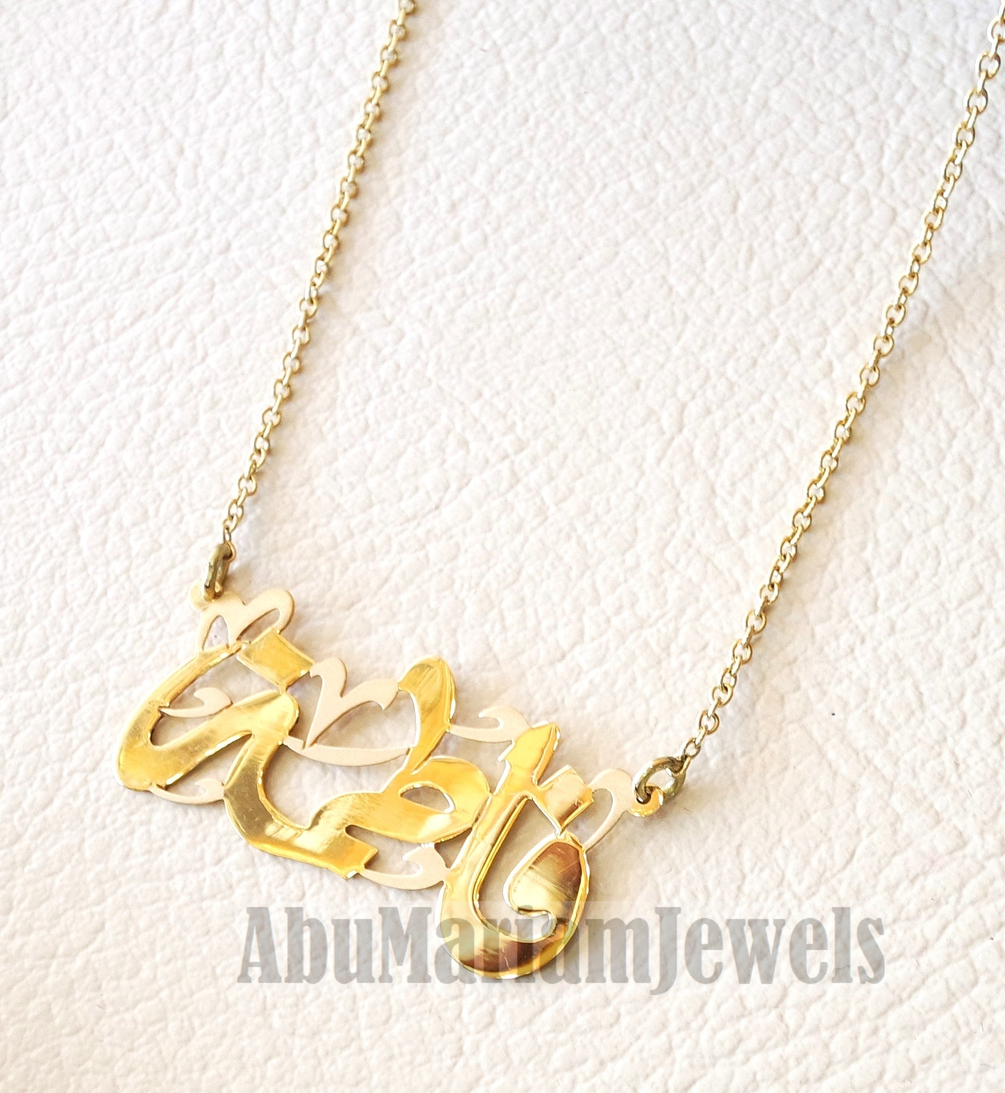 with personalized initial made by products necklace disc mary m gold pendant