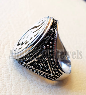 Customized Arabic calligraphy names handmade ring personalized antique jewelry style sterling silver 925 any size TSN1009 خاتم اسم تفصيل
