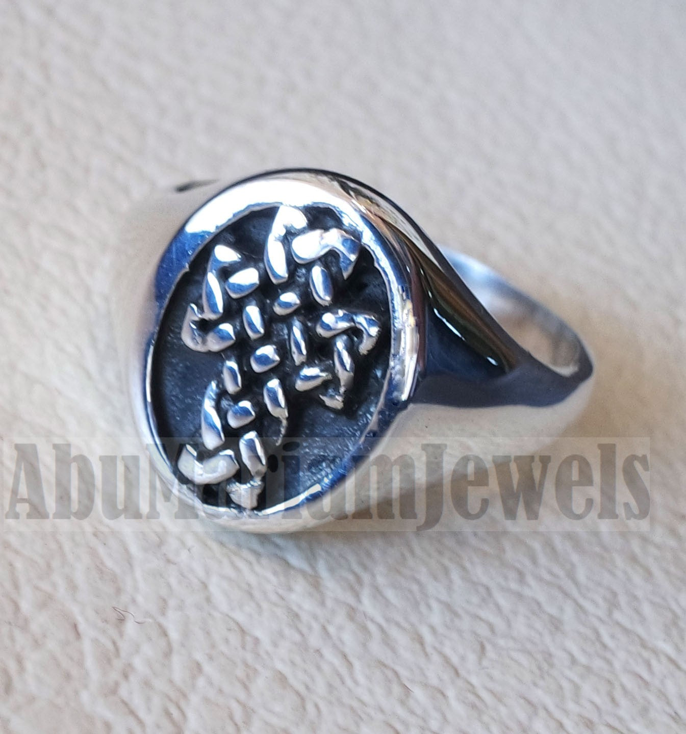Celtic cross jesus christian sterling silver 925 and pinkie man ring jewelry fast shipping catholic orthodox style all sizes