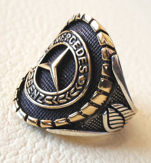 Mercedes Benz sterling silver 925 and bronze heavy man ring new car ideal gift all sizes