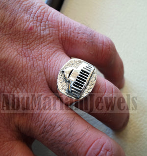 Al Aqsa Mosque men ring sterling 925 all sizes ottoman antique style Palestine Arabic Islam jewelry  خاتم الأقصى