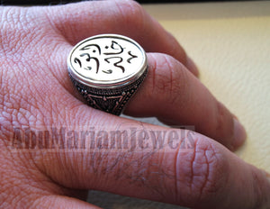 Customized Arabic calligraphy names ring personalized jewelry style sterling silver 925  any size TSN1003 خاتم اسم تفصيل
