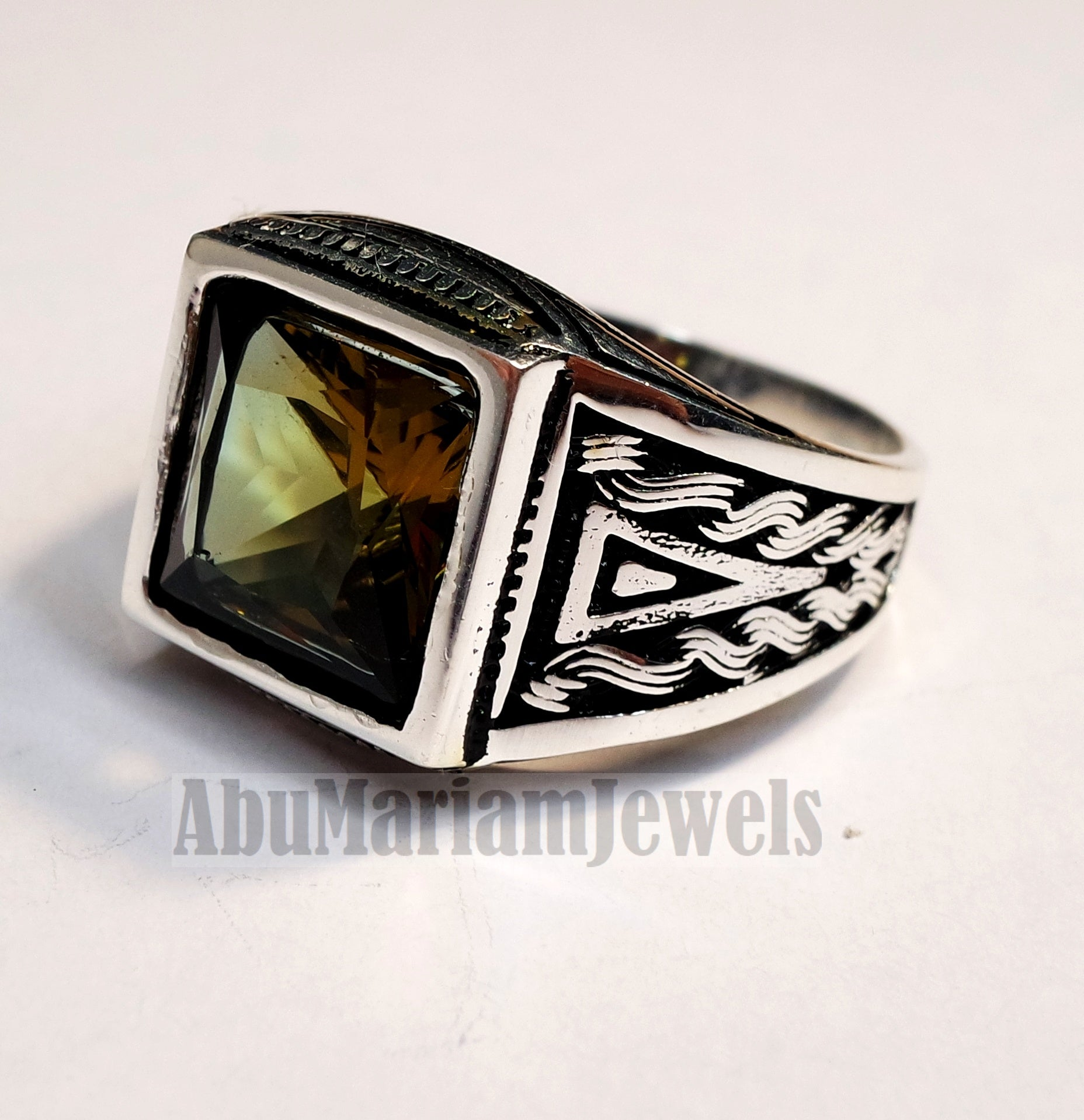 Zultanite natural changing color rare stone sterling silver 925 Diaspore men ring princess cut stone all sizes 3