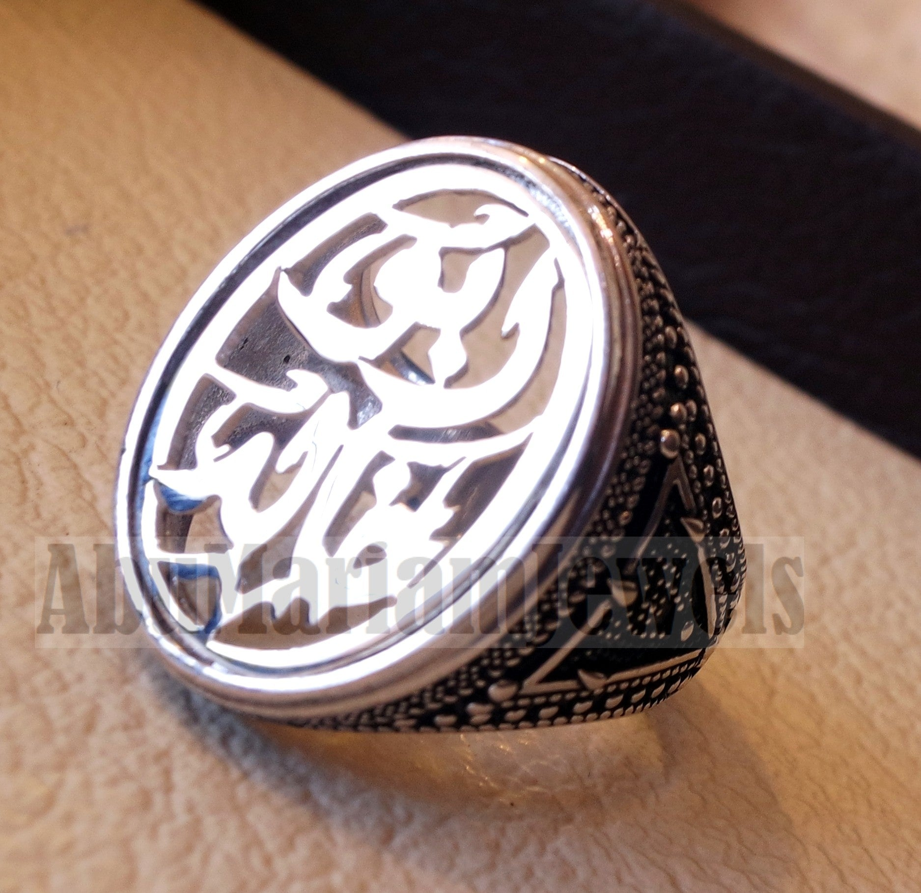 Customized Arabic calligraphy names ring personalized jewelry style sterling silver 925  any size TSN1004 خاتم اسم تفصيل