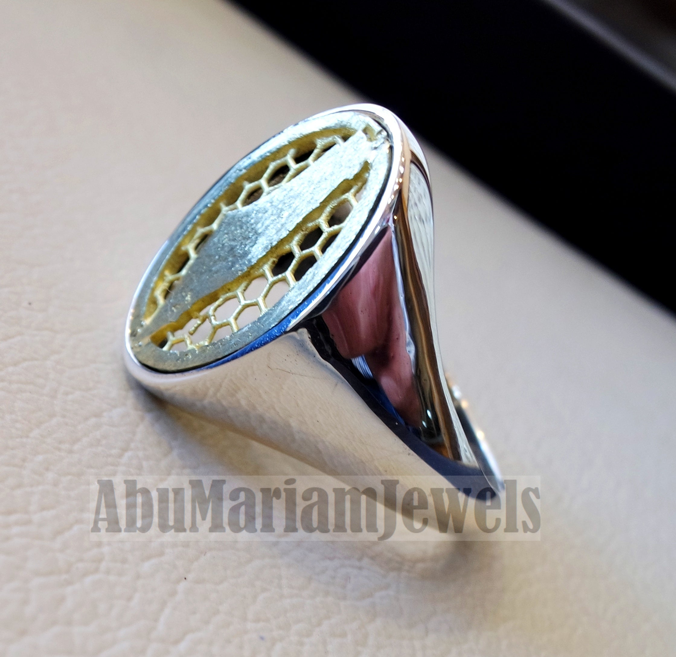 Palestine map man ring sterling silver and bronze Arabic middle eastern free palestine fast shipping all sizes خاتم فلسطين