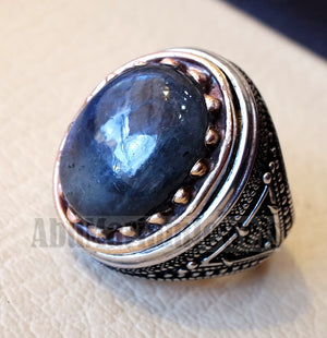 Labradorite ring natural stone multi color semi precious stone heavy sterling silver 925 bronze frame any sizes jewelry express shipping
