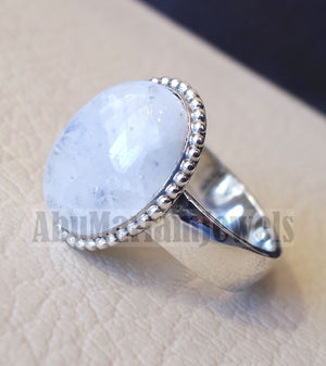 Pinkie men or women ring moonstone skin touching stone sterling silver 925 all sizes high quality natural oval cabochon stone