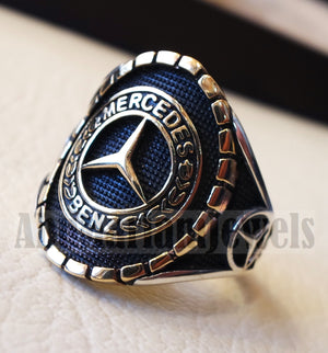 Mercedes Benz sterling silver 925 and bronze heavy man ring new car ideal gift all sizes 1002