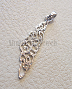Palestine map small pendant with famous verse sterling silver 925 k high quality jewelry arabic fast shipping خارطه و علم فلسطين