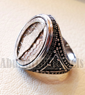 Palestine map man ring sterling silver and bronze arabic middle eastern turkey oriental antique style fast shipping all sizes