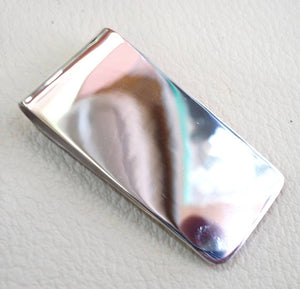 man gift personalized customized heavy sterling silver 925 money clip three letters or one name Arabic or English , any other can be applied