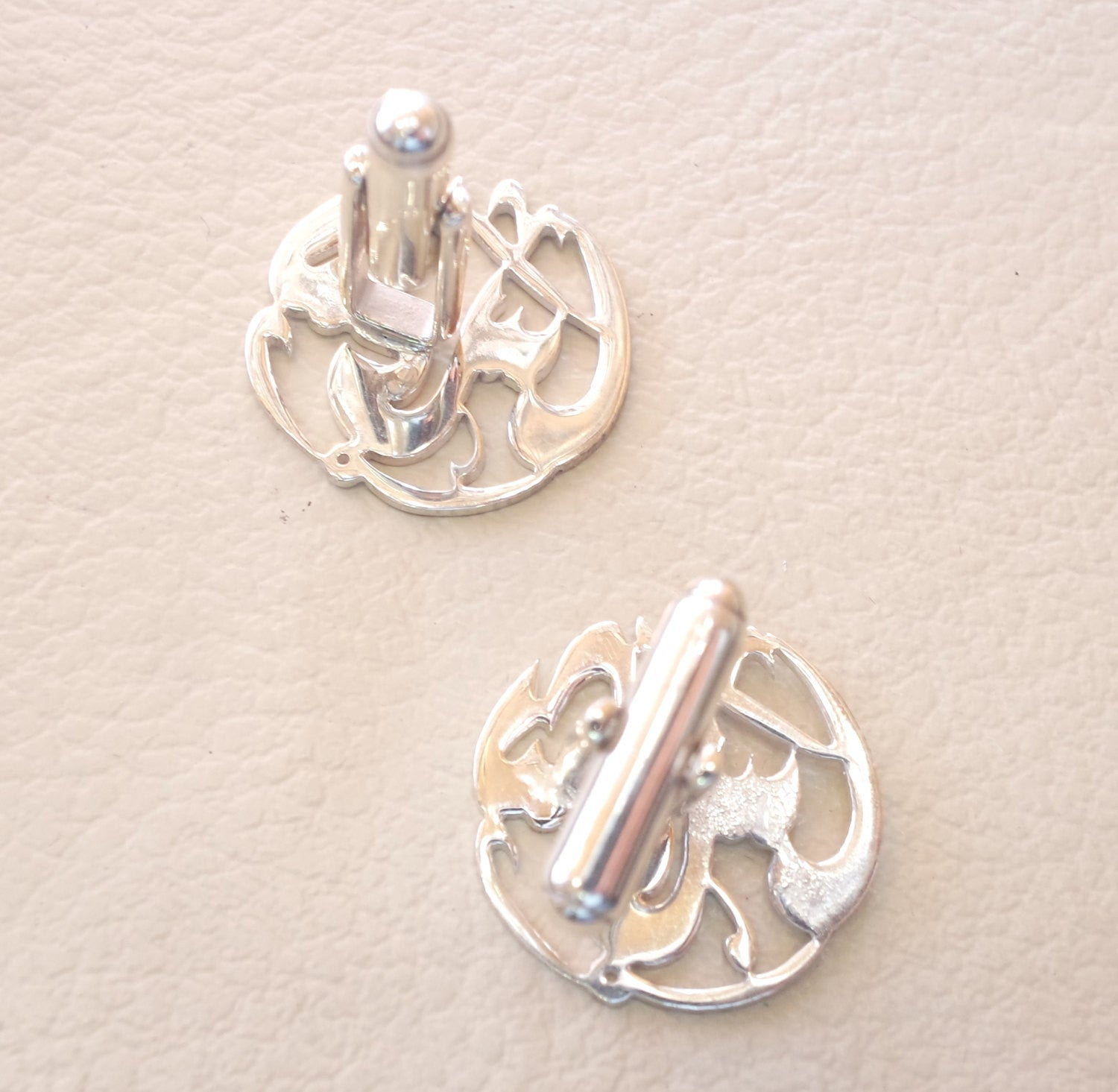 cufflinks , cuflinks  1 name calligraphy arabic customized any name made to order sterling silver 925 heavy men jewelry