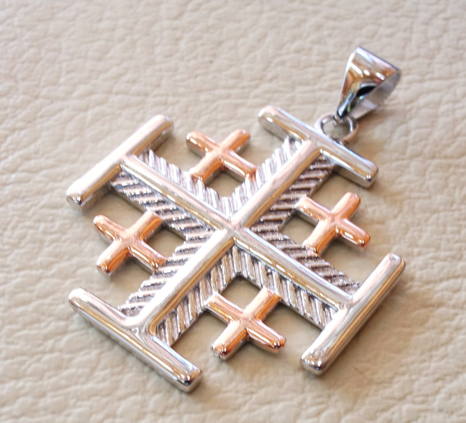caprice product cross jerusalem pendant bk diamonds