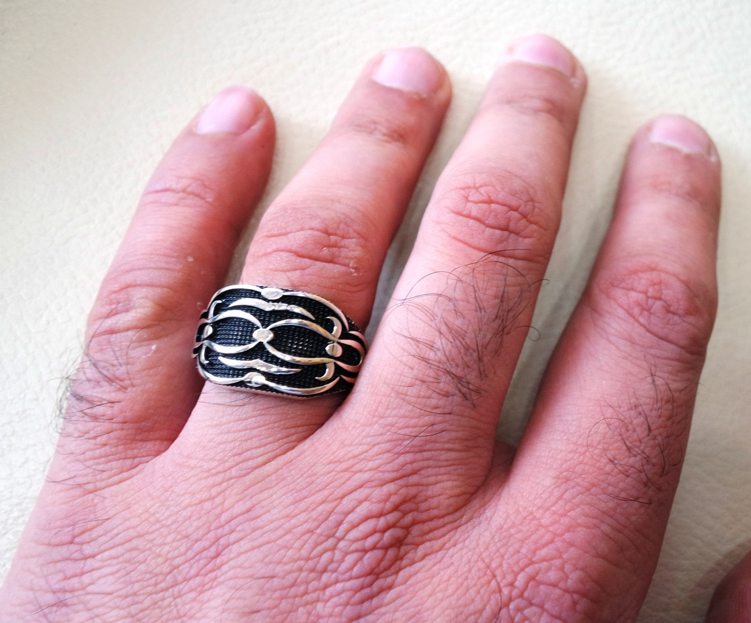 celtic style heavy sterling silver 925 heavy man heavy symbol ring shape any size antique style high quality jewelry