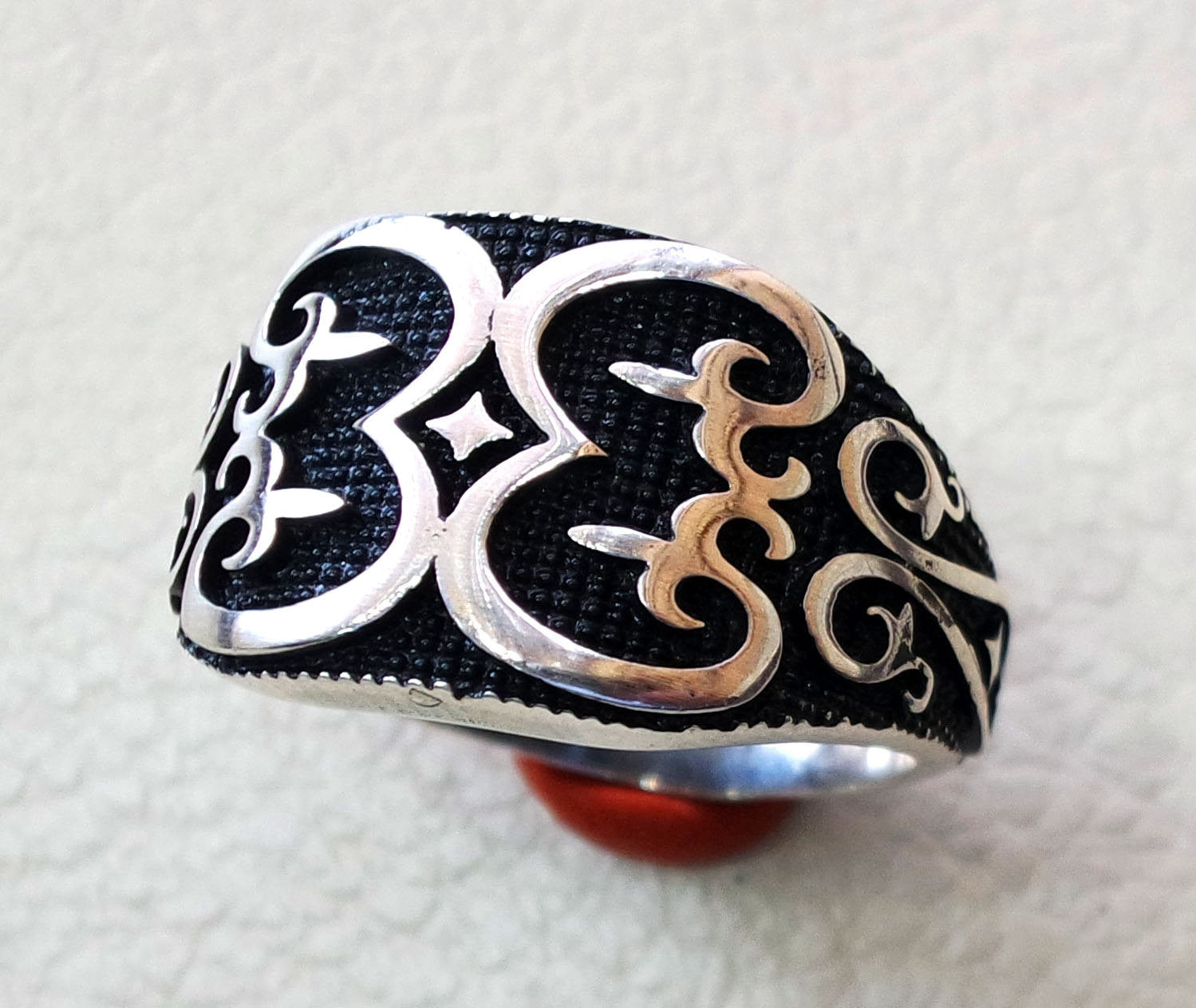 Fluer de lis celtic style heavy sterling silver 925 heavy man heavy symbol ring shape any size antique style high quality jewelry