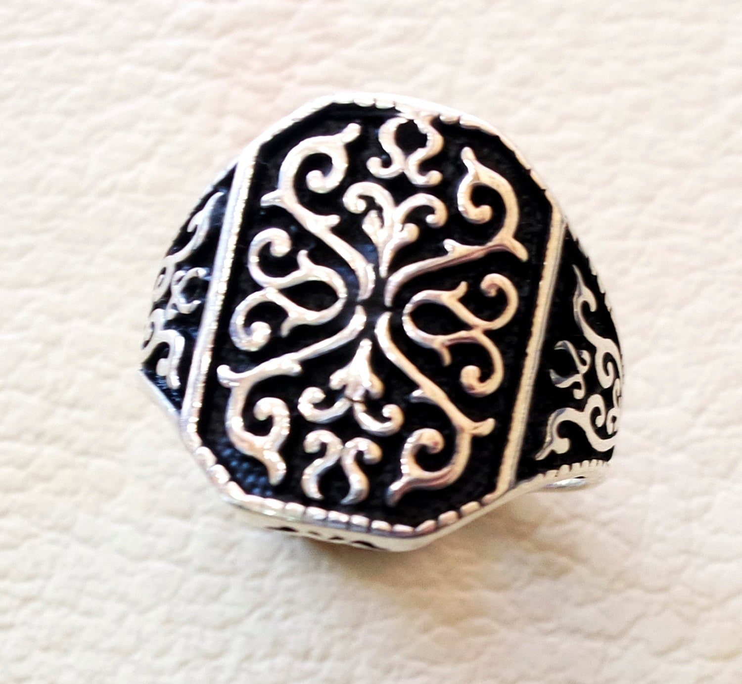 ornament man ring celtic style heavy sterling silver 925 heavy man  shape any size antique style high quality jewelry