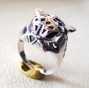 panther ring heavy sterling silver 925 man biker ring all sizes handmade animal head jewelry fast shipping detailed craftsmanship