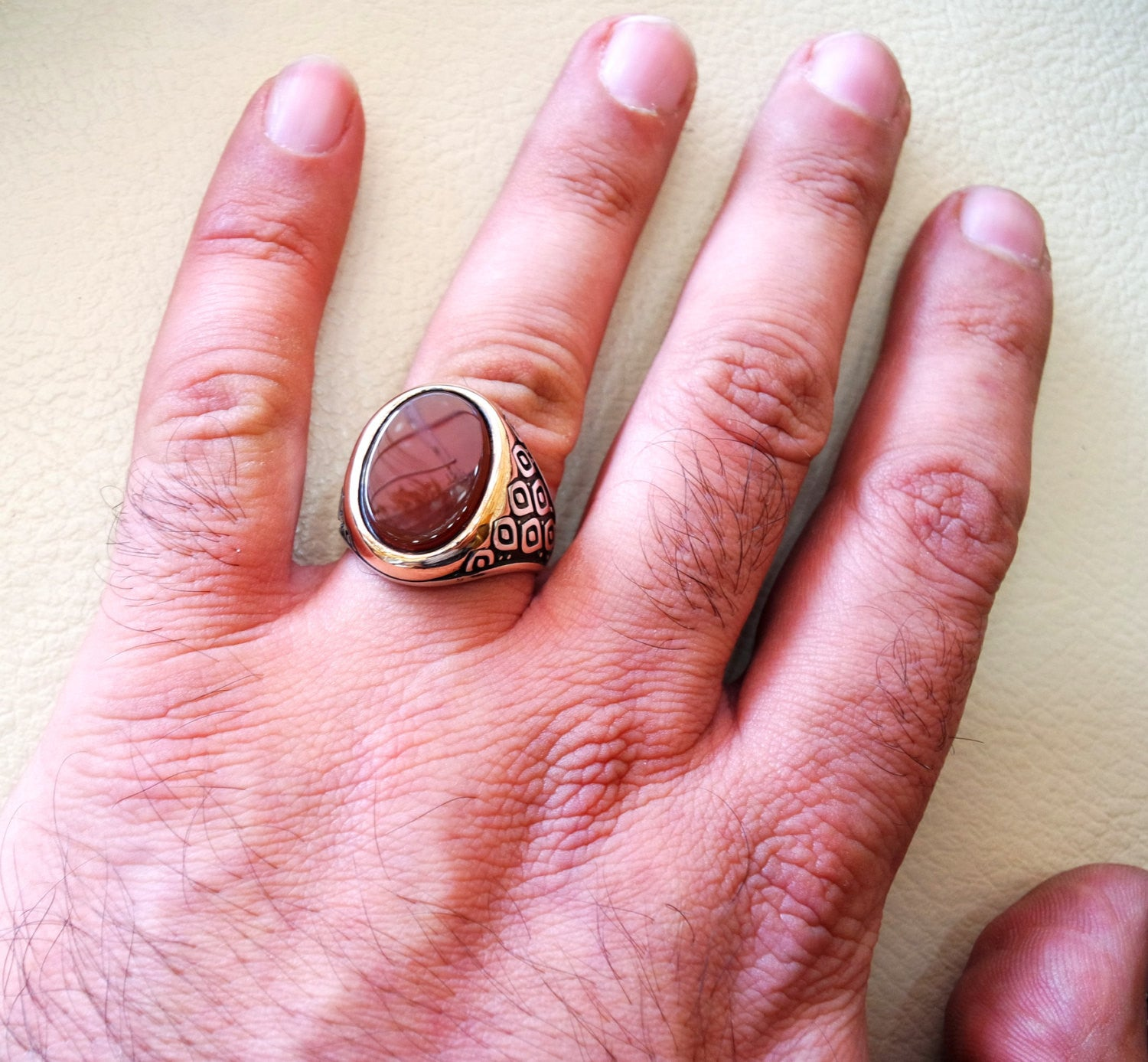 50 Awesome Red Wedding Rings for Men D9k | Wedding Junction
