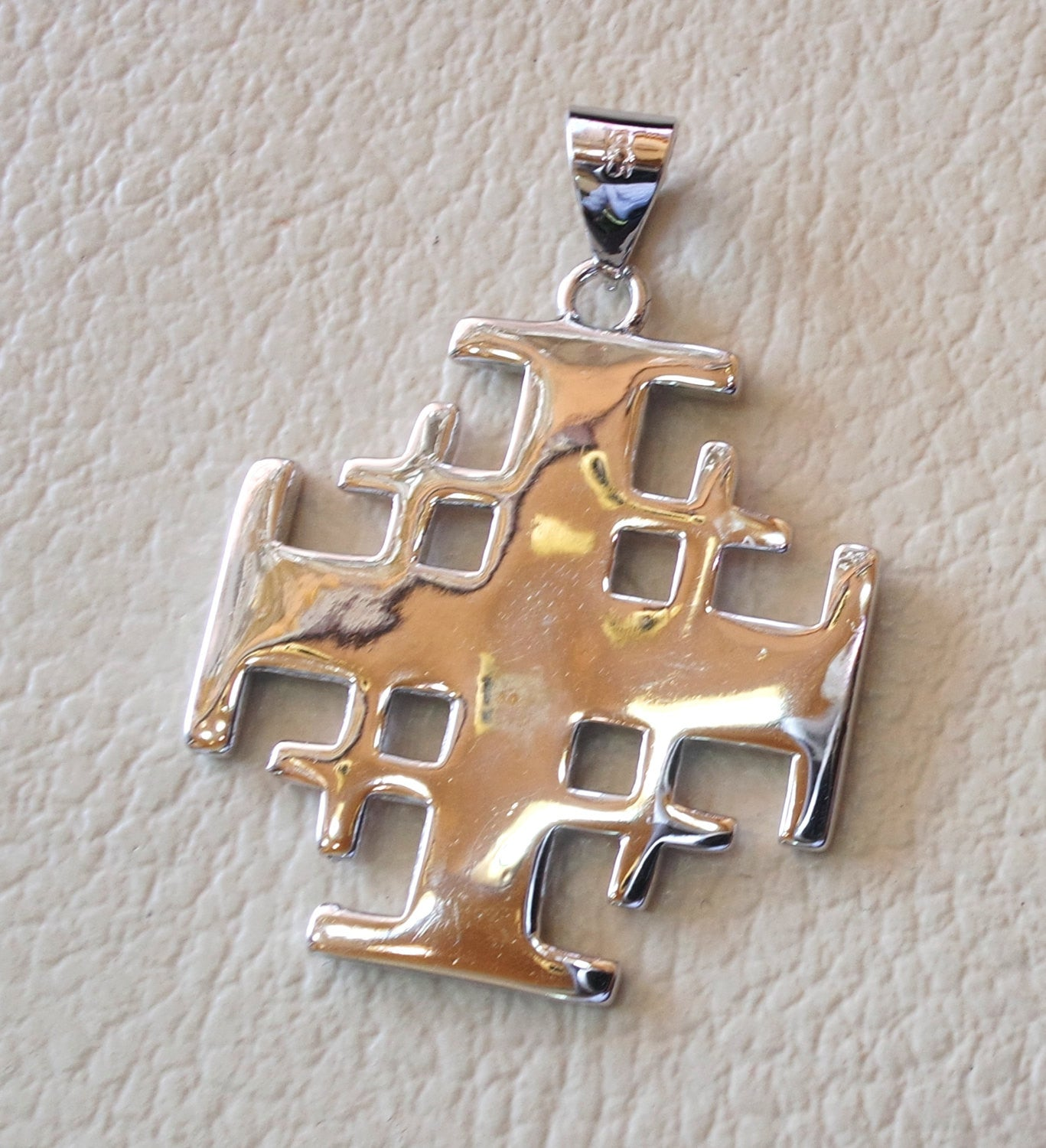 jewelry christmas pendant product jerusalem cross house silver