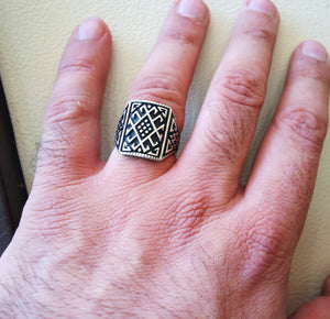 celtic style heavy sterling silver 925 heavy man ornament man ring shape any size antique style high quality jewelry