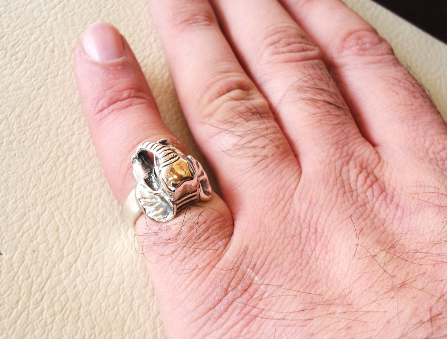 elephant pinkie ring sterling silver 925 man biker ring all sizes handmade animal jewelry fast shipping detailed craftsmanship